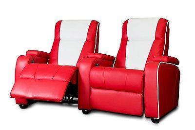 The Original Metro Retro Movie Chair Home Theatre Cinema Seating Sofa Red Double Hus Inspirasjon