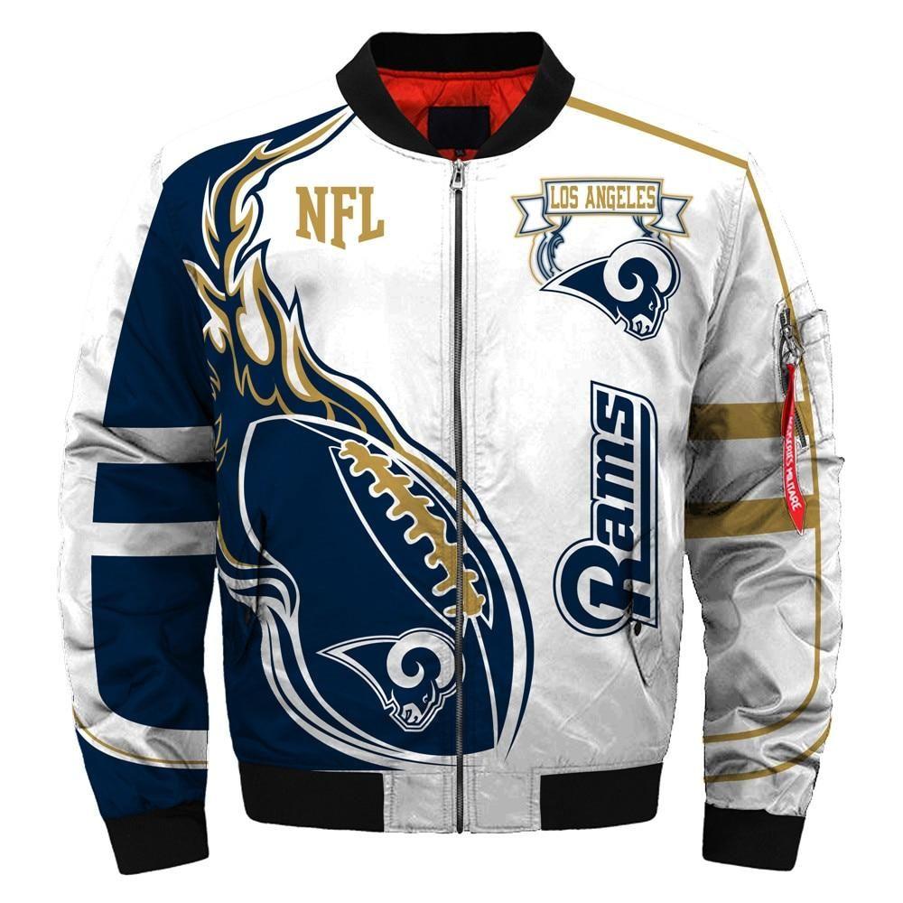 2019 newest nfl jacket custom mens los angeles rams