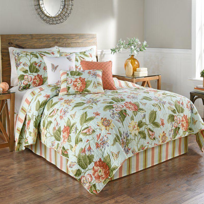 Laurel Springs Reversible Quilt Set, Waverly Bedding Set Queen