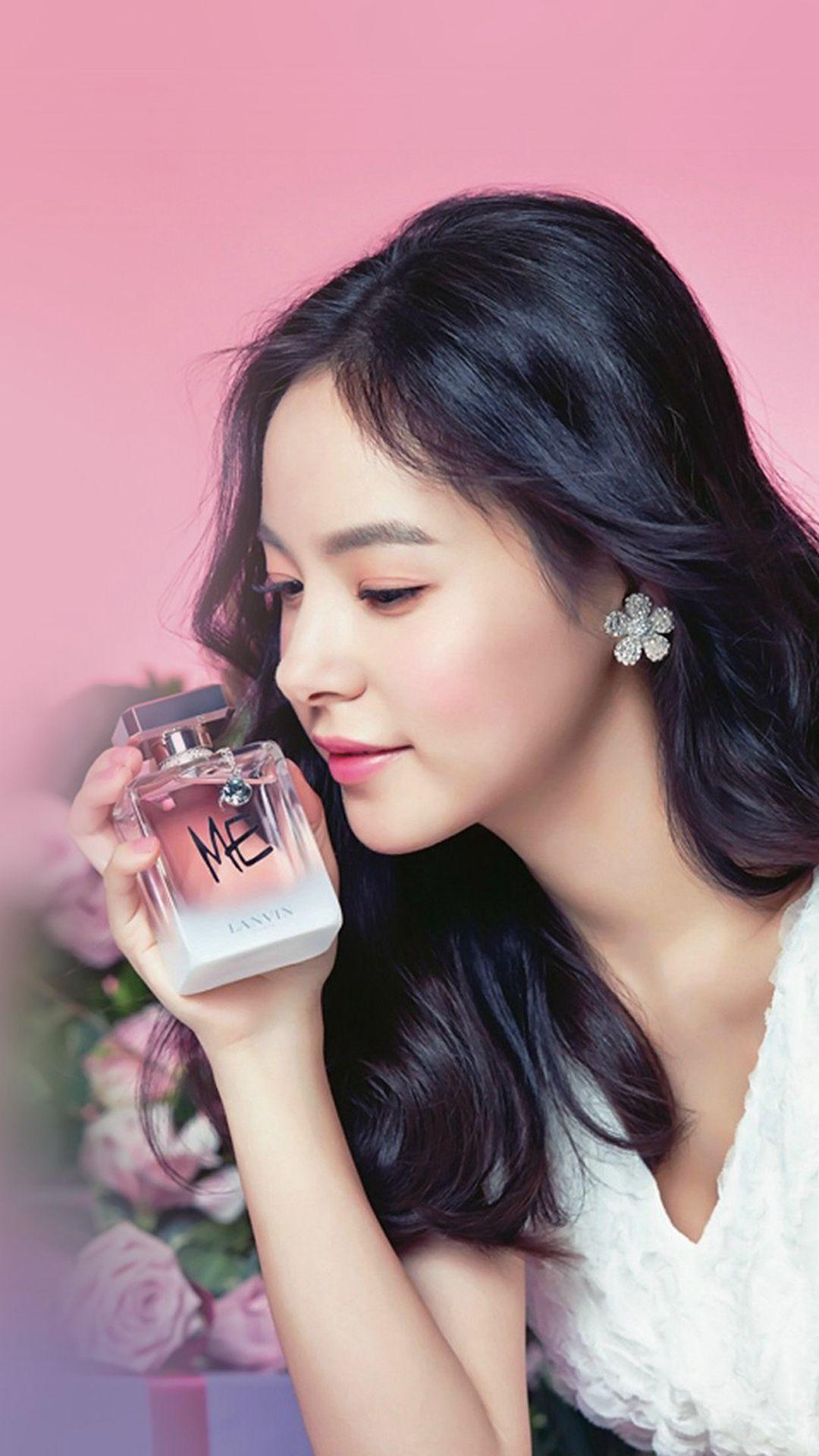 Min Hyorin Pink Ad Cute Kpop iPhone 8 Wallpapers Iphone