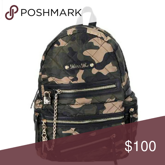 ISO MISS ME Jessie Lock and Key CAMO BACKPACK Searching for Miss Me camo backpack  Miss 9ffb242e3c