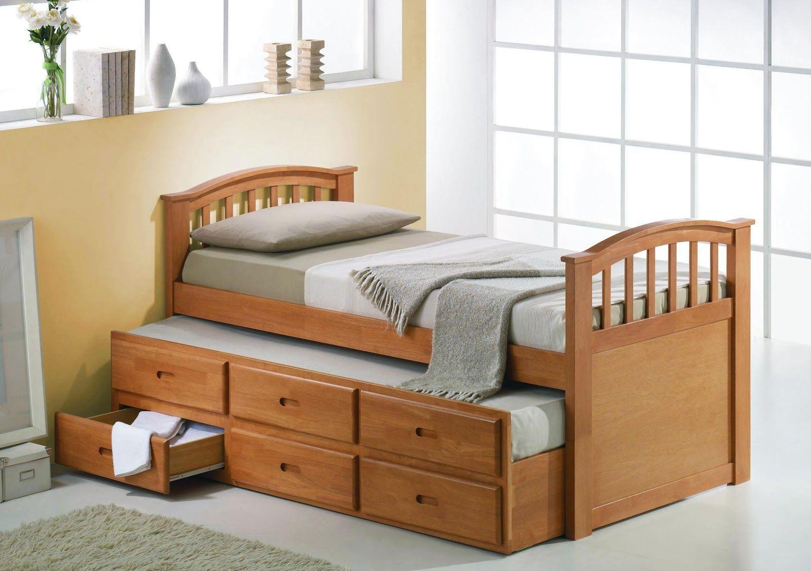 Single-bedroom-suite-gorgeous-wooden-single-bed-designs-storage ...