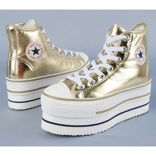 converse platform gold