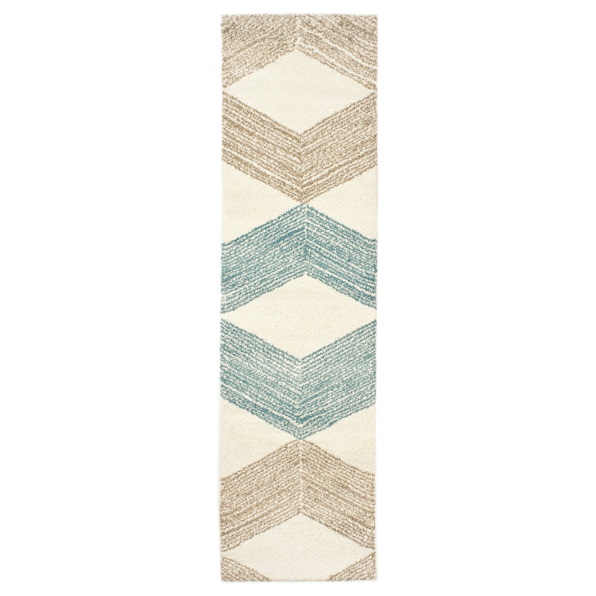 MARSLEV Rug High Pile Turquoise Beige Bedroom RugsLiving Room