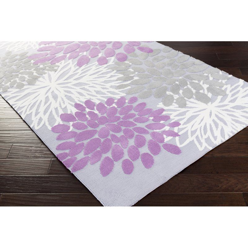 Odele Lavender Gray Area Rug Reviews Allmodern Floral Area Rugs Area Rugs Kids Rugs