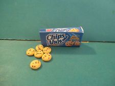 Barbie 1:6 Miniature Kitchen Food Package Of Chocolate Chip Cookies aa