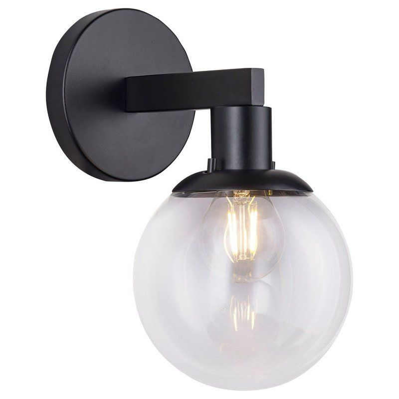 The Industrial Style 1 Light Led Armed Sconce Is Perfect For Bathrooms Corridors Living Areas And A Variety Of Other Spaces It Co Sconces Wall Sconces Light