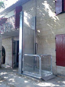 Mini Plateforme Verticale Mini Ascenseur Monte Personne Monte Handicape Petite Hauteur Maisons Exterieures Exterieur Ascenseur