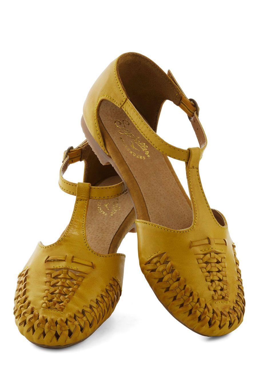 For Sale Women's Seychelles Flats T strap Cayenne Sandal Yellow Canada outlet shop