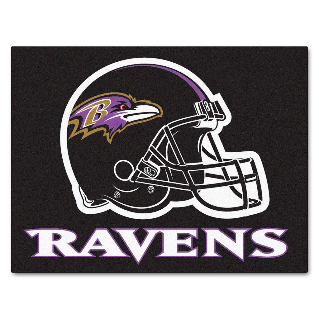 Baltimore Ravens Black Tufted Area Rug