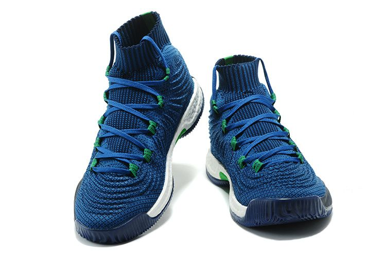 low priced 42de4 4a0df 2017 2018 Basketball Shoes adidas Crazy Explosive 2017 Primeknit Deep Blue  and Green Black