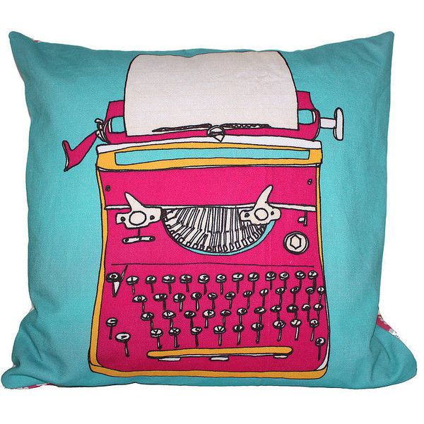 Helena Carrington Illustration Typewriter Pink Throw Pillow. ($65) ❤ liked on Polyvore featuring home, home decor, throw pillows, pink, pink toss pillows, retro home decor, pink throw pillows, pink home decor and retro throw pillows