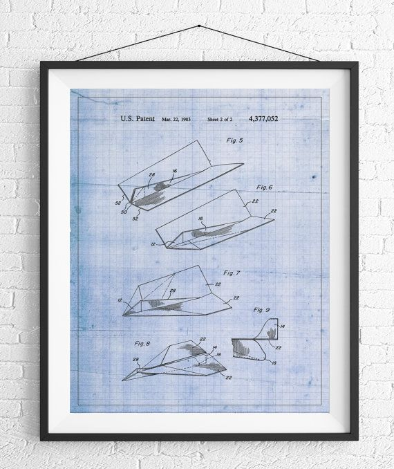 Paper airplane patent print game room art office wall art paper airplane patent print game room art office wall art blueprint vintage patent poster geek gifts boys room nerd gifts industrial malvernweather Choice Image
