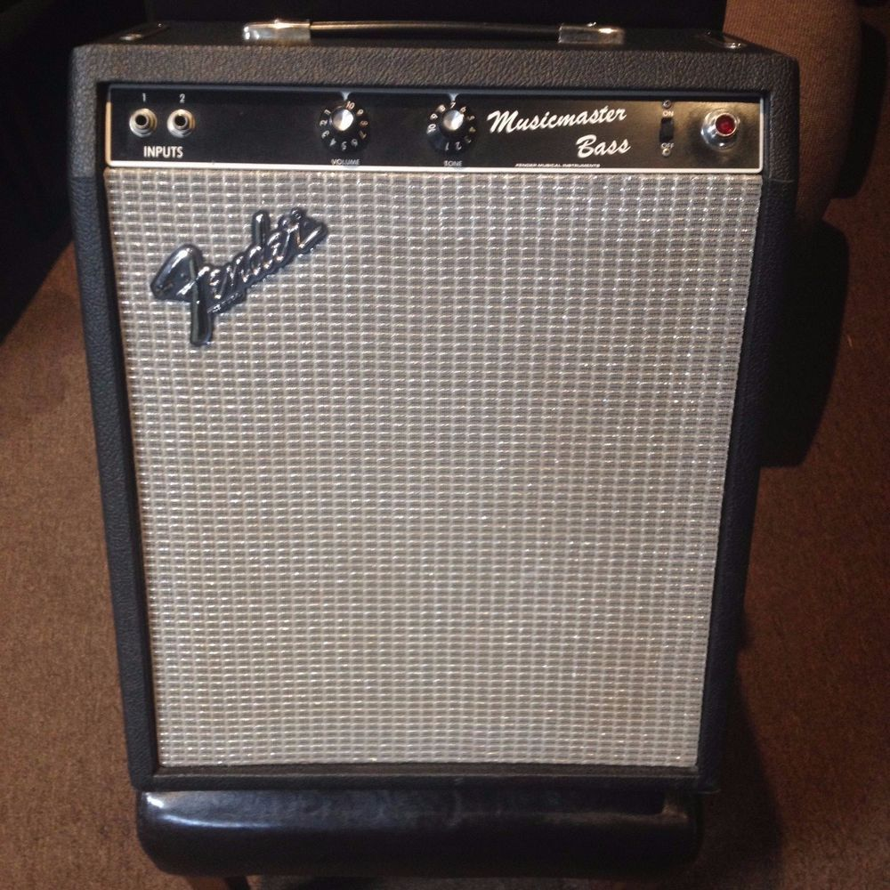 rare fender masicmaster bass guitar tube amp rare fender blackface made one year only. Black Bedroom Furniture Sets. Home Design Ideas
