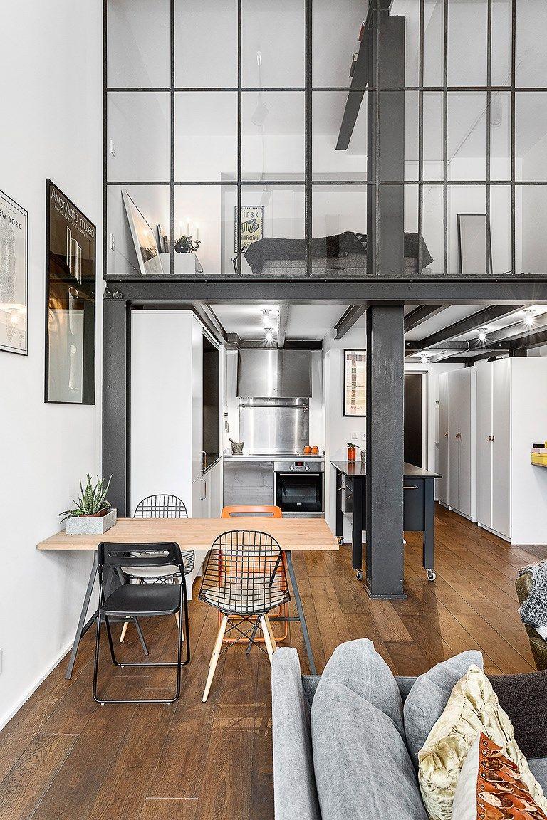 Casita con tapanco loft en 2019 pinterest loft for Diseno de apartamentos industriales