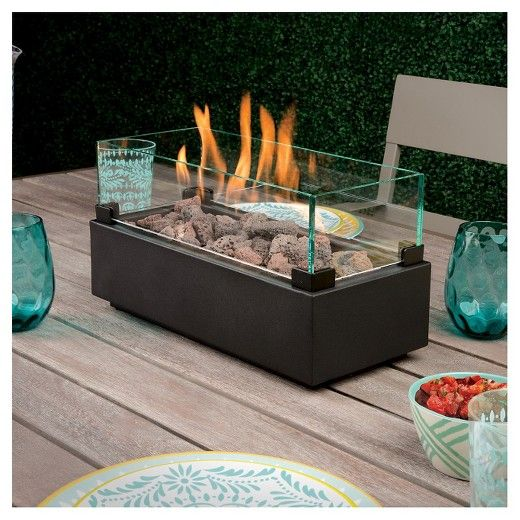 two harbors 14 long tabletop lp gas fire table black project 62 the opulent home fire. Black Bedroom Furniture Sets. Home Design Ideas