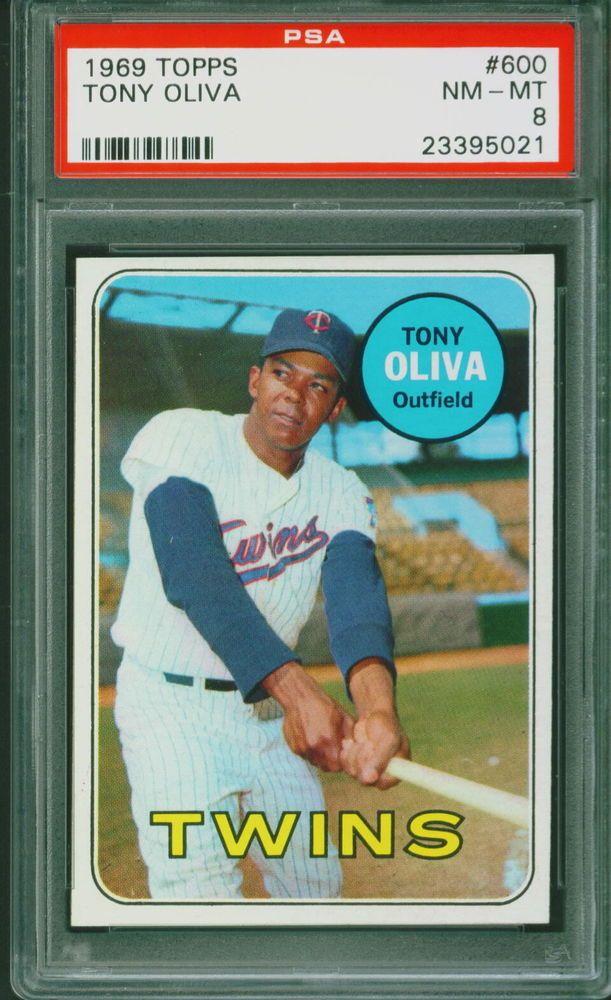 1969 Topps Baseball Tony Oliva 600 PSA 8 TWINS NMMT Set