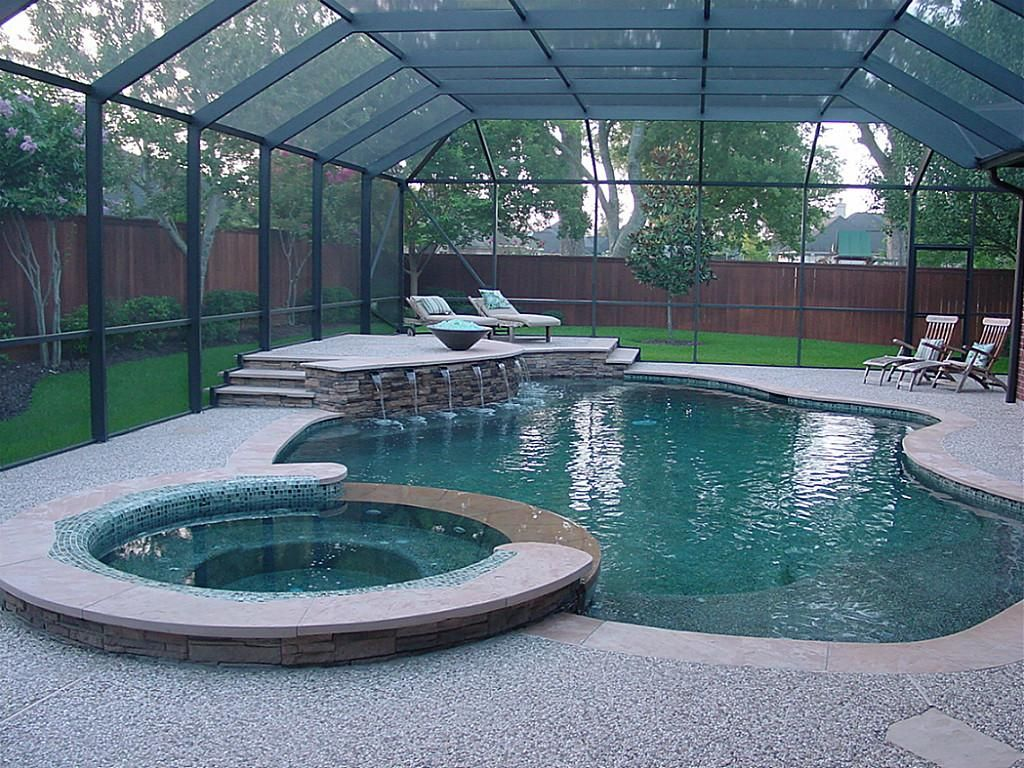 ENCLOSE POOL AREA | Swimming pools backyard, Luxury swimming ...