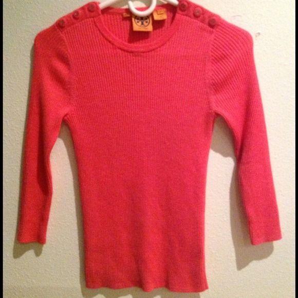 Tory Burch Super Cute Pink Sweater Authentic Tory Burch pink sweater great condition no trades Tory Burch Sweaters