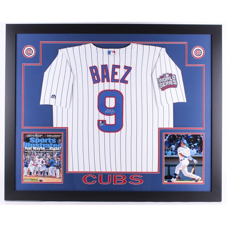 Javier Baez Autographed Signed 35x43 Custom Framed Chicago Cubs ...