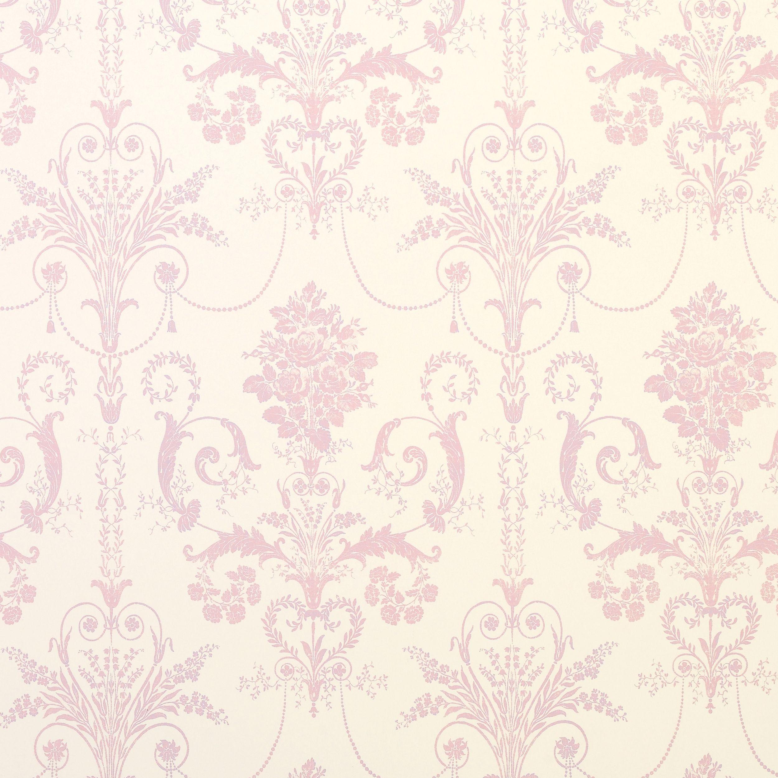 Josette Carnation Damask Wallpaper at Laura Ashley
