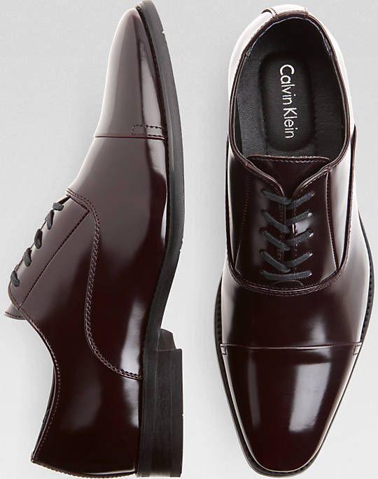 09dbe9fda2ba how to dress men. Calvin Klein Radley Burgundy Cap Toe Oxfords