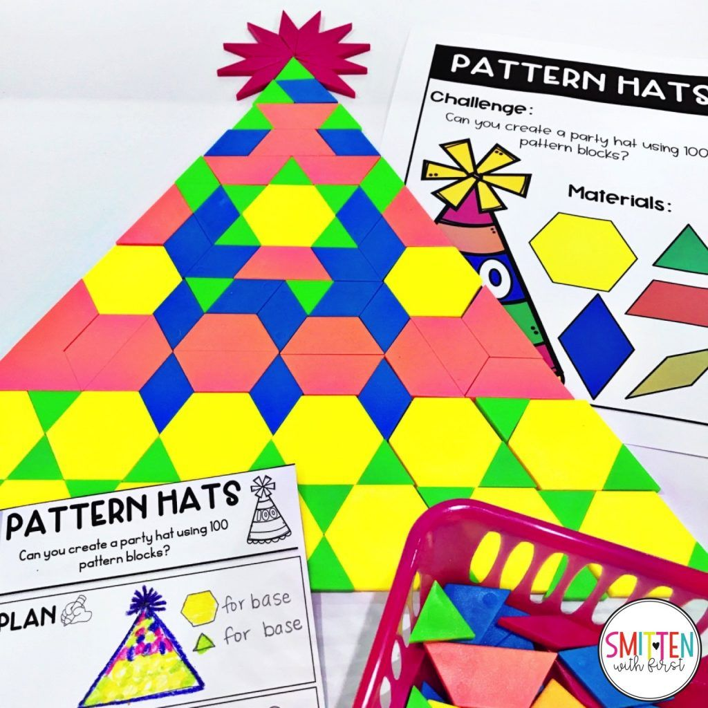 100th Day Of School Challenge Can You Build A Pattern Block Party Hat 100th Day Of School Crafts 100 Days Of School 100 Day Of School Project [ 1024 x 1024 Pixel ]