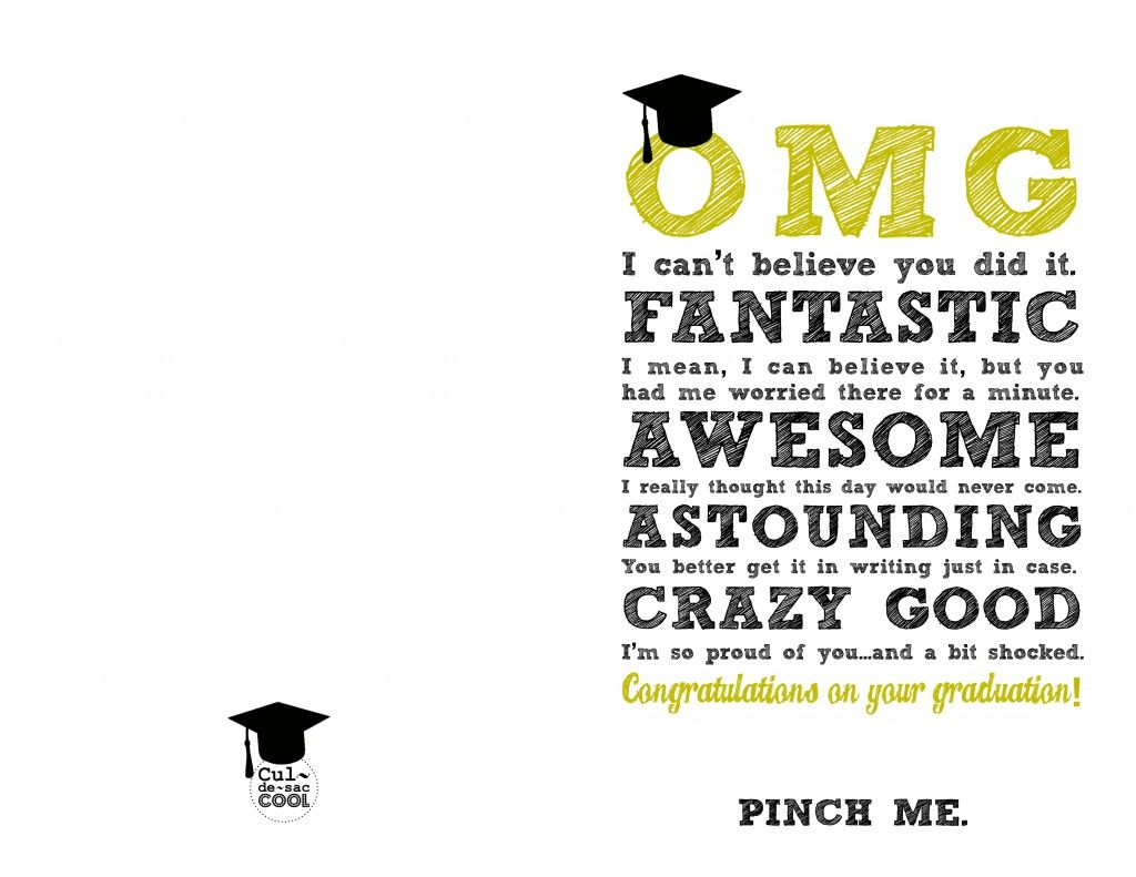 Diy printable graduation cards omg and be awesome