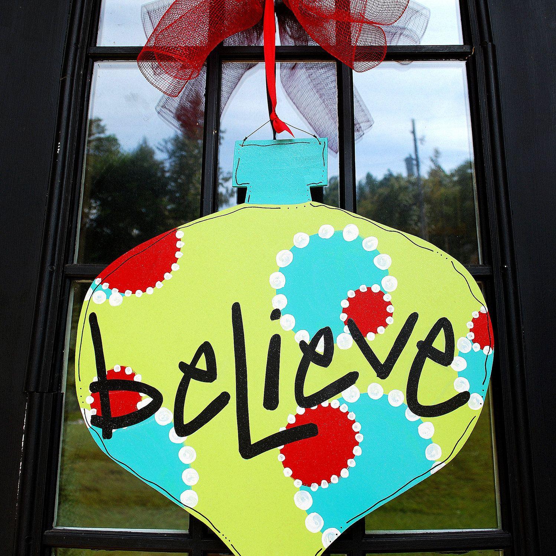Christmas Door Hanger Ornament Door Hanger Christmas Door Hanger