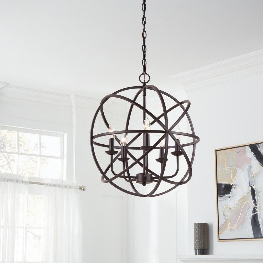 Home Decorators Collection Sarolta Sands 5-Light Bronze ...