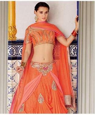 Jacquard Net Lehenga Set | I found an amazing deal at fashionandyou.com and I bet you'll love it too. Check it out!