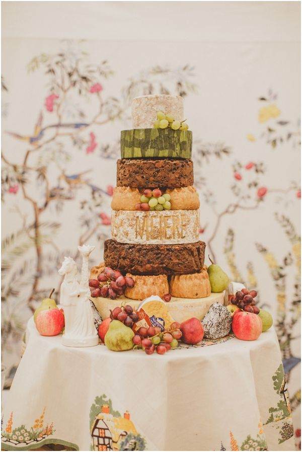 Yum Cheese Wheel Pork Pie And Fruit Cake Stack Fantastic Wedding Alternative