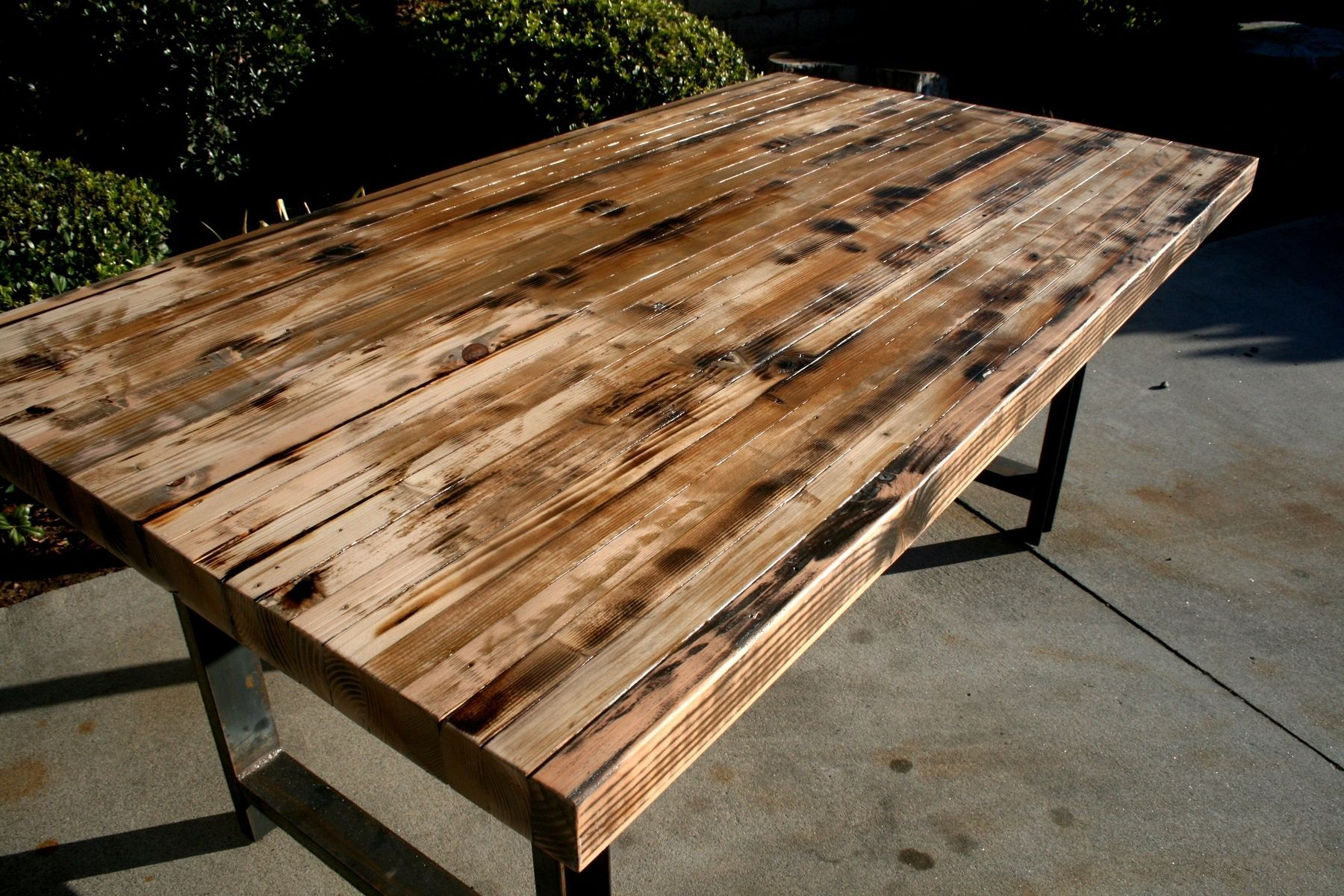 Rustic Recycled Butcher Block Dinning Table Butcher Block Dining Table Kitchen Table Settings Dining Table
