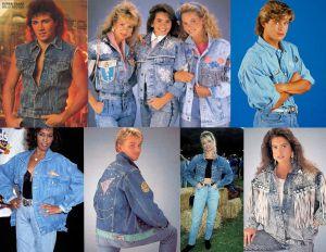 Denim Jackets 80s Fashion Eighties Vintage Fashion 80s Fashion Fashion Double Denim