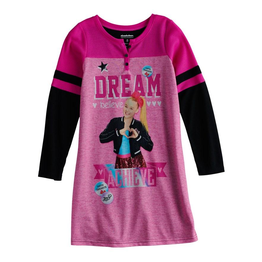 Jojo Siwa Be You Girls Nightgown 6-12