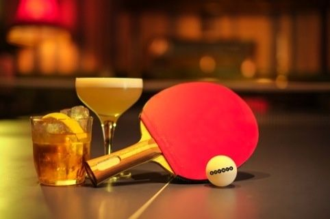 Image result for table tennis and beer