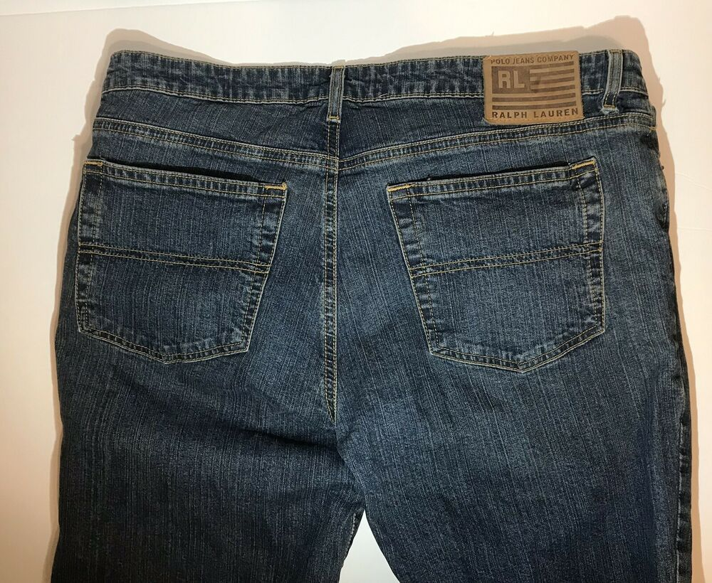 3886cdf4c Ralph Lauren Polo Jeans Company Kelly Stretch Jeans Womens Sz 14x32 Dark  Blue