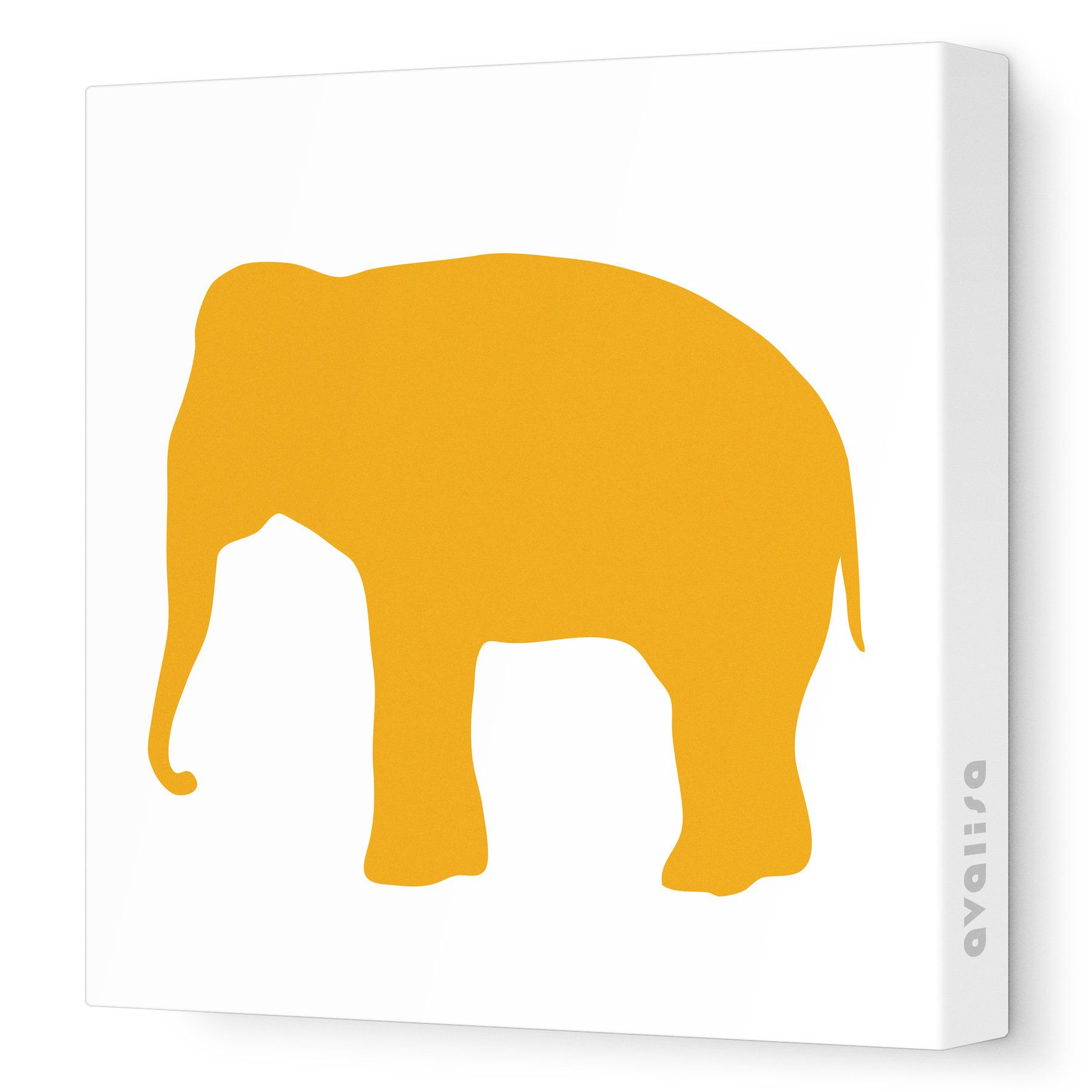 Silhouettes Elephant Stretched Canvas Art | Products | Pinterest ...