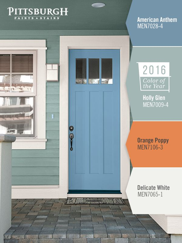 The 2016 paint color of the year holly glen is great for - Exterior house paint colors 2016 ...