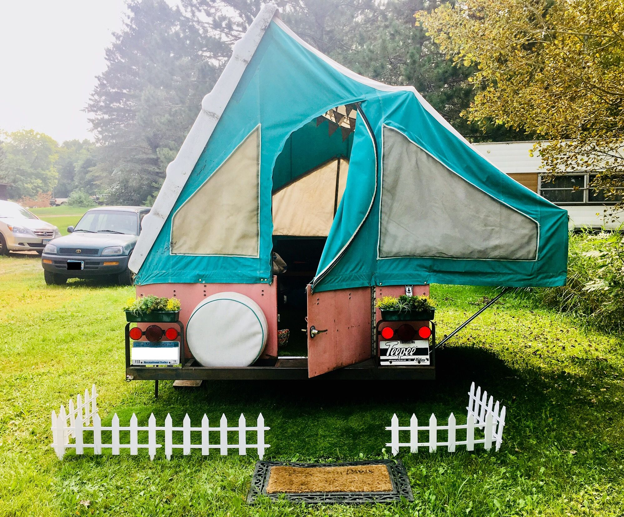 1960 S Bethany Pop Up Camper With Original Canvas Pop Up Camper