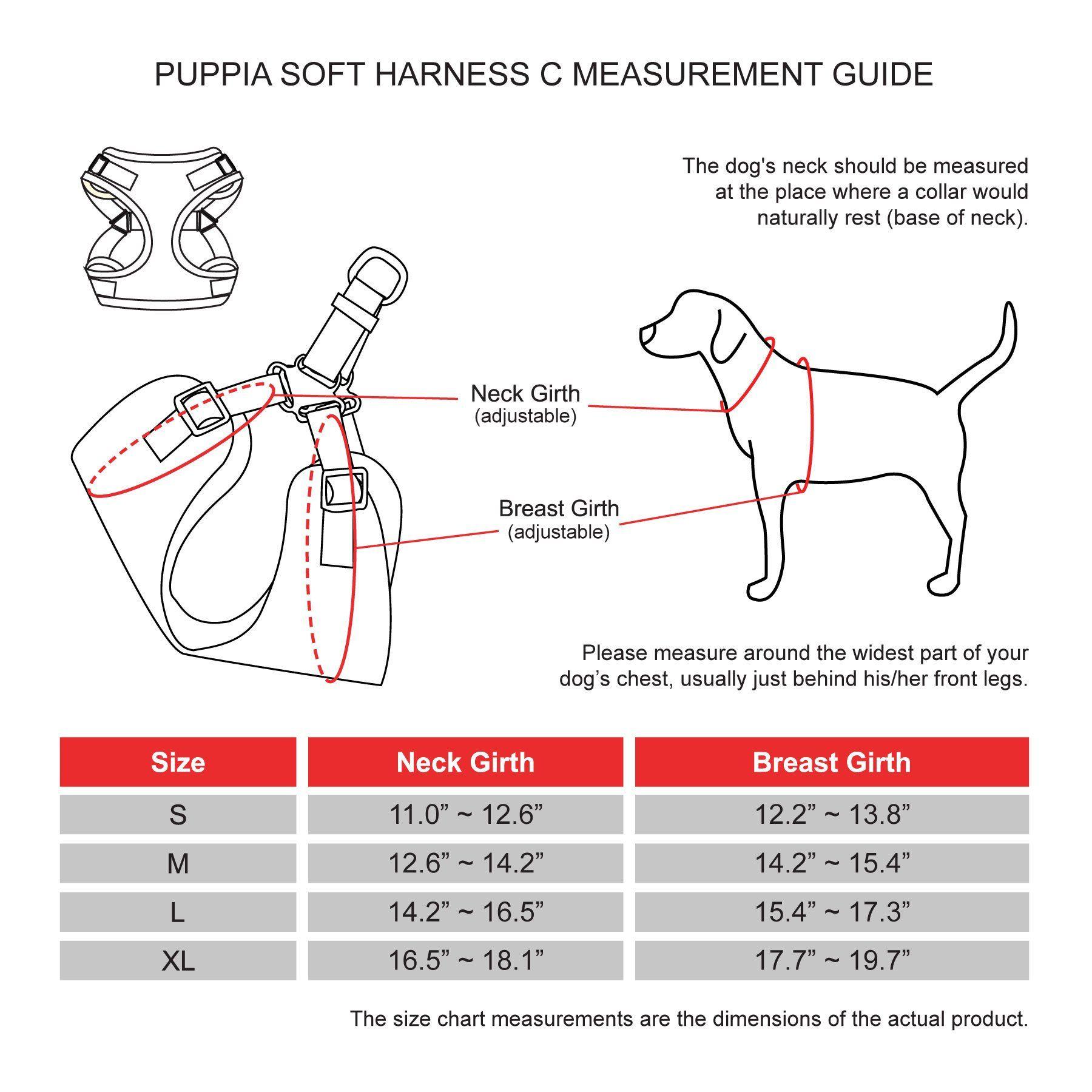Small Puppia PARA-HC1533-CA-S Camo Soft Harness C Pet-Vest-Harnesses