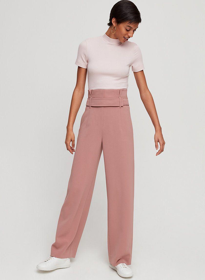0d78627f Jermaine pant in 2019 | Spring | Pants, Wide leg trousers, Belt tying