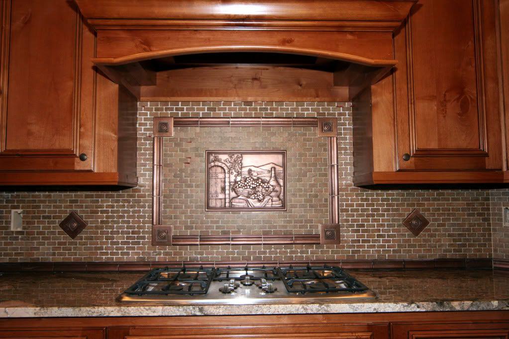 Copper Inlay Tile Backsplash Copper Backsplash Copper Tile Backsplash Contemporary Kitchen Backsplash