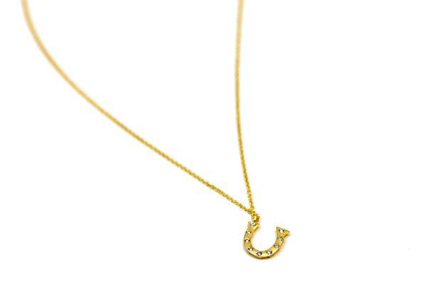 14k Gold and Diamond Horseshoe