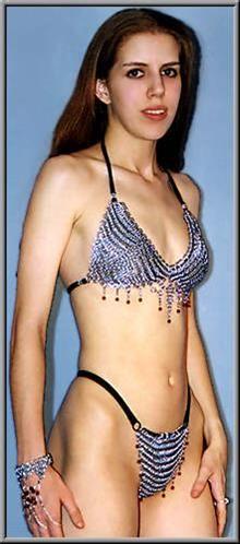 stainless steel chainmail Bikini