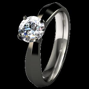 Cleopatra Black Solitaire | Titanium Rings, Titanium Wedding Bands, Diamond  Engagement Rings.