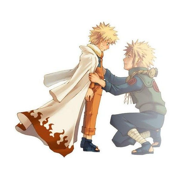 Naruto and his father Yodaime ❤ liked on Polyvore featuring anime and naruto
