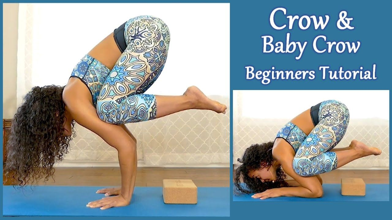 20 Minutes Beginners Yoga Challenge How To Do Crow Pose 20 Min Class For Flexibi Beginner Yoga Challenge Yoga For Beginners Crow Pose
