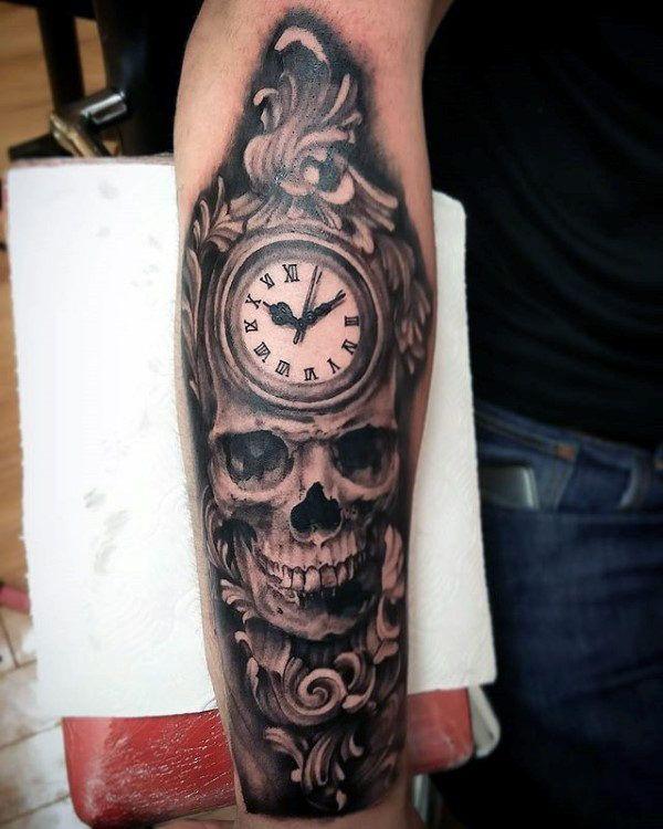 ff68b9f3412e8 90 Filigree Tattoos For Men - Ornamental Ink Design Ideas | Tattoos ...