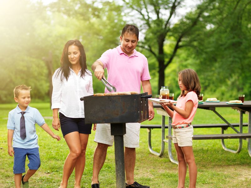 Summer Is Here Time To Fire Up The Park Grills Park Grill Grilling Charcoal Grill
